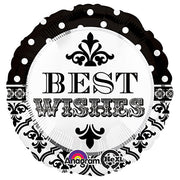 18″ DAMASK & DOTS BEST WISHES