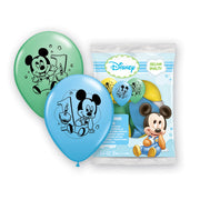 12″ MICKEY 1ST BIRTHDAY (6 PK)