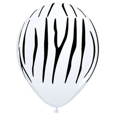 11″ ZEBRA STRIPES - WHITE