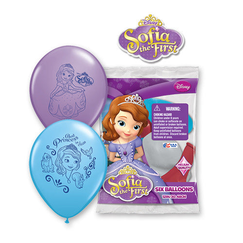 12″ SOFIA THE FIRST (6 PK)