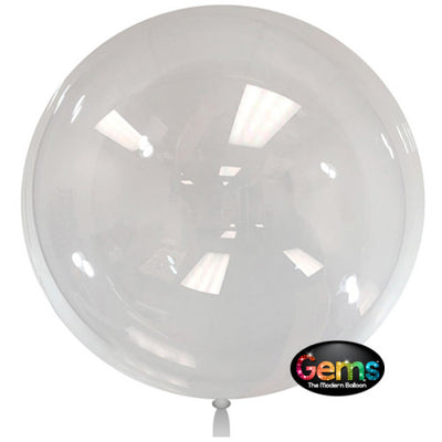36″ GEMS BALLOON - CLEAR (2 PK)