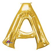 "34"" LETTER A - ANAGRAM - GOLD"
