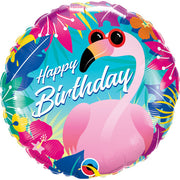 18″ BIRTHDAY TROPICAL FLAMINGO