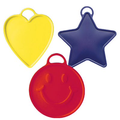 60 GRAM BALLOON WEIGHTS - PRIMARY COLORS (10PK)