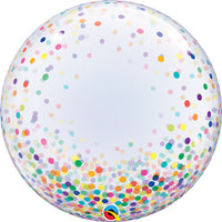 24″ DECO BUBBLE - COLORFUL CONFETTI DOTS