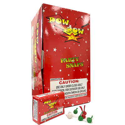 POW POW PARTY SNAPS (50 PK) RED BOX