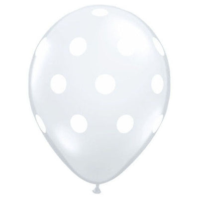 11″ BIG POLKA DOTS - DIAMOND CLEAR