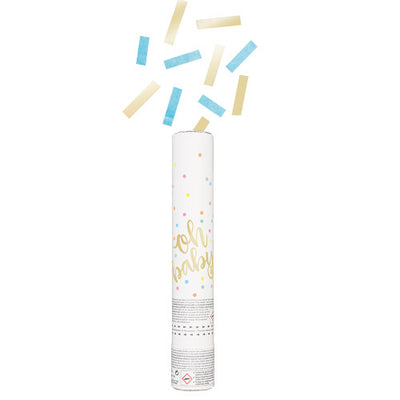 OH BABY GENDER REVEAL CONFETTI CANNON BLUE & GOLD (BOY)