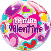 22″ BUBBLE - BE MINE VALENTINE HEARTS