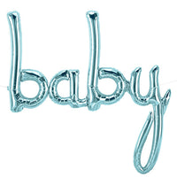 46″ BABY SCRIPT - PASTEL BLUE (AIR-FILL ONLY)