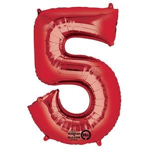 34″ NUMBER 5 - ANAGRAM - RED