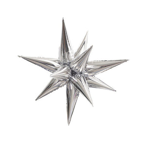 27″ 12 POINT LARGE STAR-BURST - SILVER (AIR-FILL ONLY)