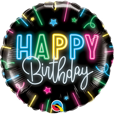 18″ HAPPY BIRTHDAY NEON GLOW