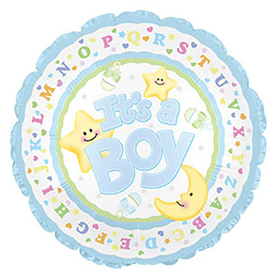 17″ IT'S A BOY MOON & STARS