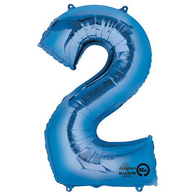 34″ NUMBER 2 - ANAGRAM - BLUE