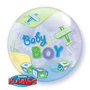 "22"" BUBBLE - BABY BOY AIRPLANES"