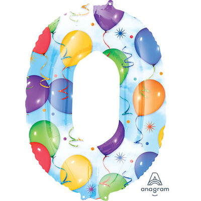 34″ NUMBER 0 - ANAGRAM - BALLOONS & STREAMERS