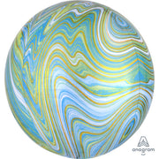 16″ ORBZ - BLUE GREEN MARBLEZ