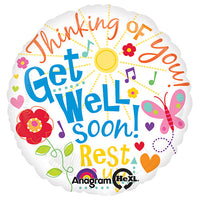 18″ GET WELL MESSAGES