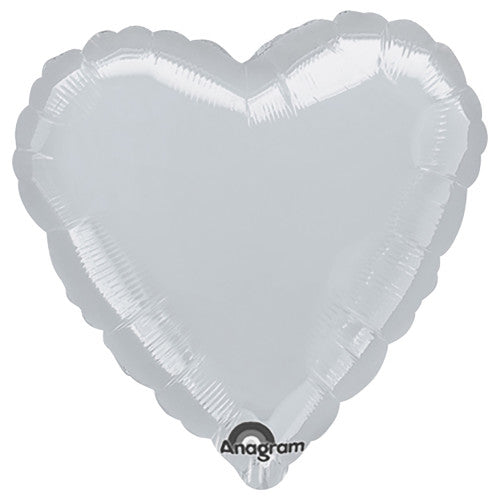 32″ HEART - METALLIC SILVER