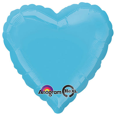 18″ HEART - CARIBBEAN BLUE