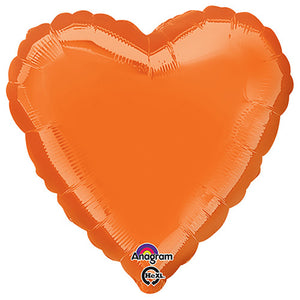 18″ HEART - METALLIC ORANGE