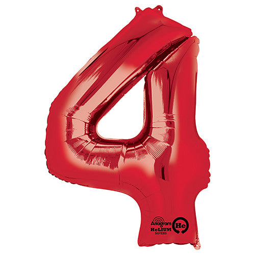 34″ NUMBER 4 - ANAGRAM - RED