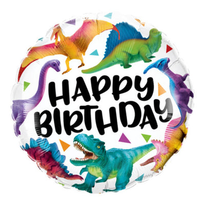 18″ BIRTHDAY COLORFUL DINOSAURS