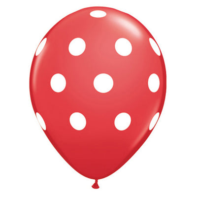11″ BIG POLKA DOTS - RED