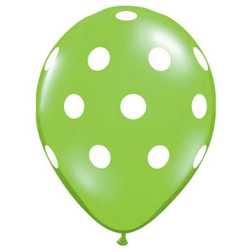 11″ BIG POLKA DOTS - LIME GREEN