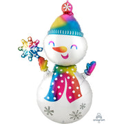 55″ SATIN INFUSED SNOWMAN