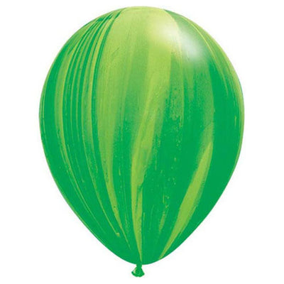 11″ SUPERAGATE - GREEN RAINBOW