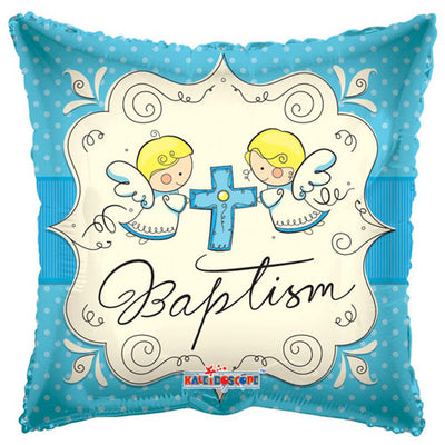 18″ CUTE ANGLES BAPTISM BOY