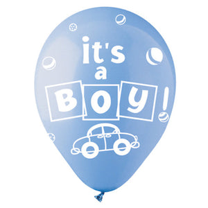 "12"" BOY LIGHT BLUE (6 PK)"