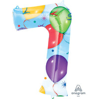 34″ NUMBER 7 - ANAGRAM - BALLOONS & STREAMERS