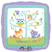 18″ WELCOME BABY WOODLAND