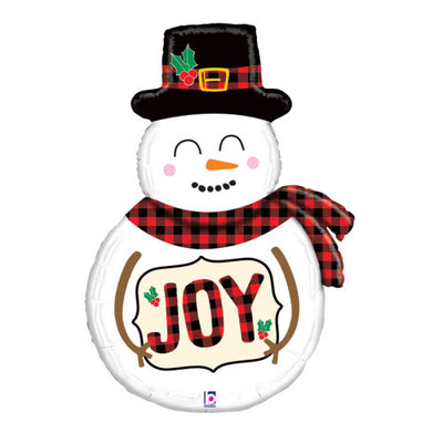 39″ BUFFALO PLAID SNOWMAN