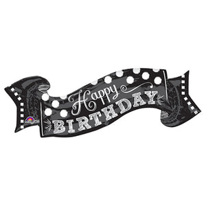 40″ BLACK & WHITE CHALKBOARD BIRTHDAY