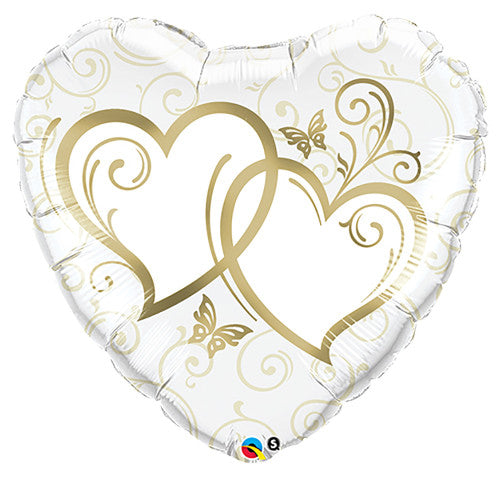 36″ ENTWINED HEARTS - GOLD