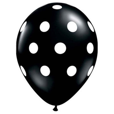 11″ BIG POLKA DOTS - ONYX BLACK