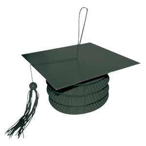 GRADUATION CAP BALLOON WEIGHT - BLACK
