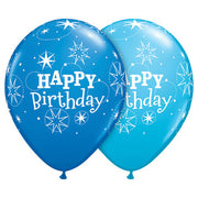 11″ BIRTHDAY SPARKLE - DARK BLUE & ROBIN'S EGG BLUE