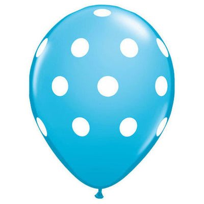 11″ BIG POLKA DOTS - ROBIN'S EGG