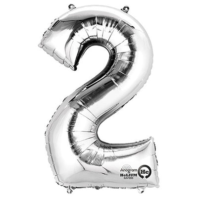 34″ NUMBER 2 - ANAGRAM - SILVER