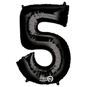 34″ NUMBER 5 - ANAGRAM - BLACK