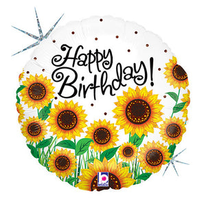 18″ SUNNY SUNFLOWERS BIRTHDAY