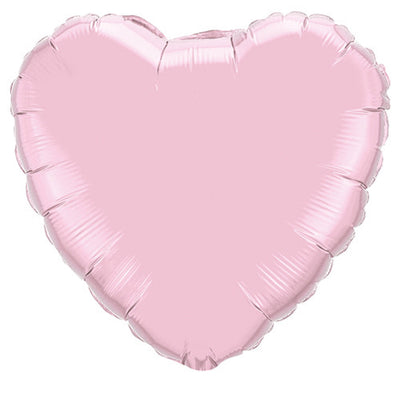 36″ HEART - PEARL PINK