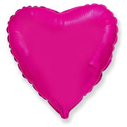 32″ HEART - METALLIC  FUCHSIA