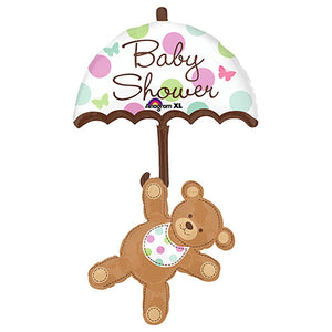 49″ BABY SHOWER UMBRELLA & BEAR
