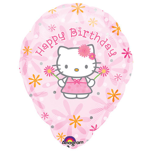18″ HELLO KITTY BIRTHDAY FLORAL PERSONALIZED